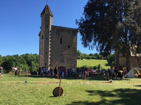 The original tower and the site of jousting mayhem.